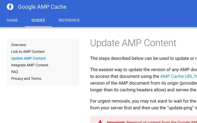 Update Google AMP Content Documentation.